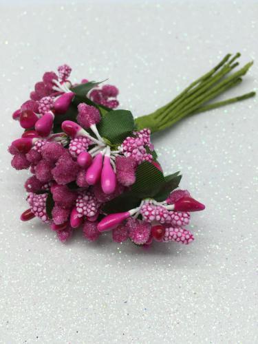 Веточки декоративные 10 см - миниягодки в сахаре 5 мм.