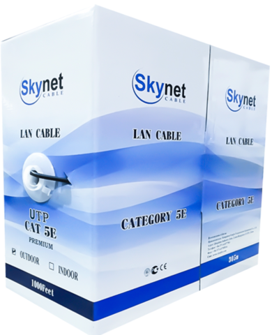 Купить кабель витая пара UTP outdoor 4x2x0,51 Cu, Fluke test, 305м., SkyNet Premium (CSP): цена за метр