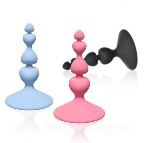 Анальная пробка - Анальная елочка Lola Toys Sweetheart Plug (2,3 х 8 см)