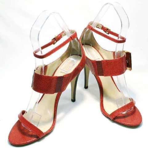 Модные босоножки с закрытой пяткой. Красные босоножки на шпильке ViaUno-Red.