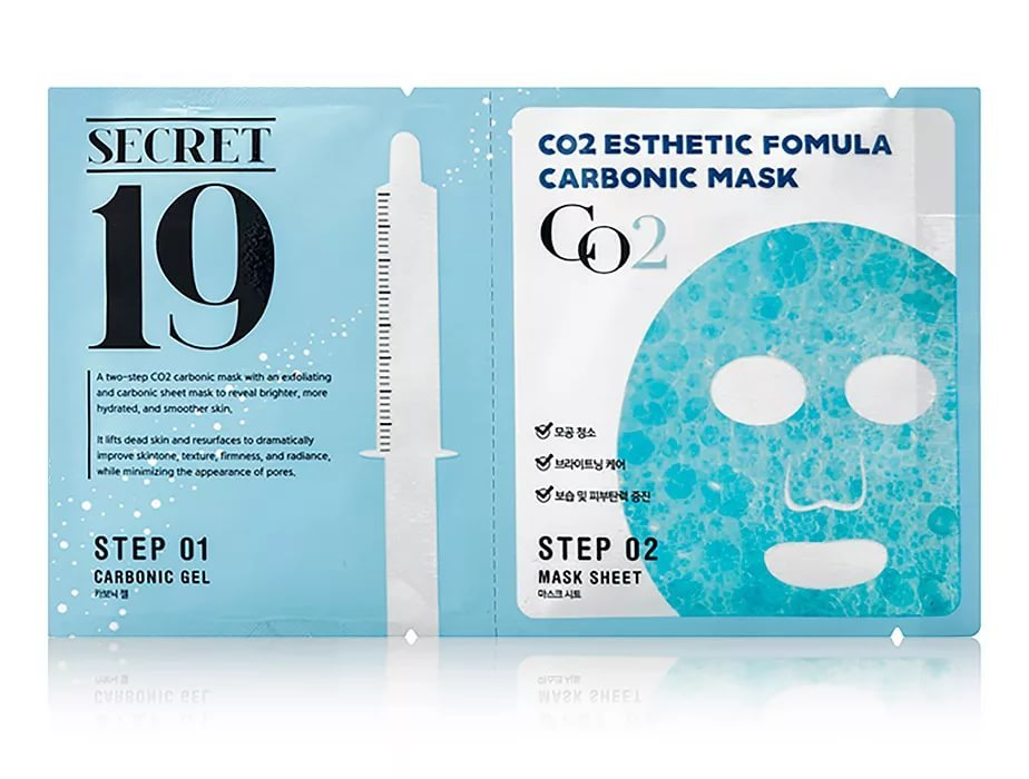Маска-активатор КАРБОКСИТЕРАПИЯ/ПАУЧ ESTHETIC HOUSE SECRET19 CO2 Esthetic Formula Carbonic Mask