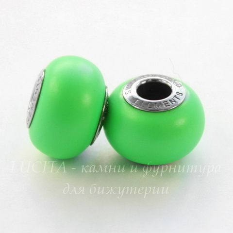 5890 Бусина Сваровски BeCharmed Pearl Crystal Neon Green 14х10 мм
