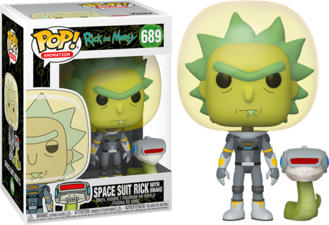 Фигурка Funko Pop! Animation: Rick and Morty - Rick in Space Suit with Snake