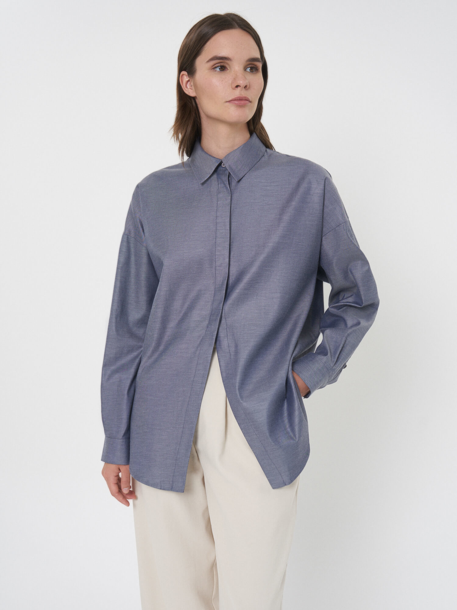 Рубашка Milena с частичной застёжкой