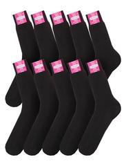 24 носки мужские, черные (10шт)