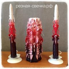Семейный очаг Фламенко вер 2 резные свечи