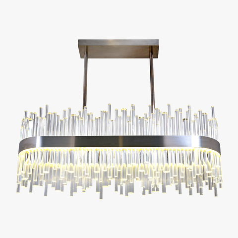 replica light  BOND STREET RECTANGULAR CHANDELIER by BELLA FIGURA