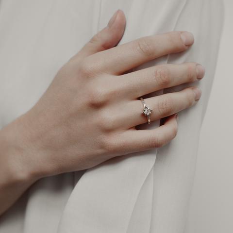 Кольцо STARDUST - Лунный камень