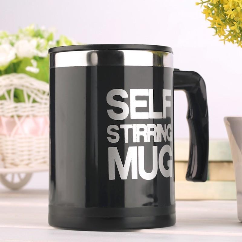 Черный вариант цвета Self Stirring Mug
