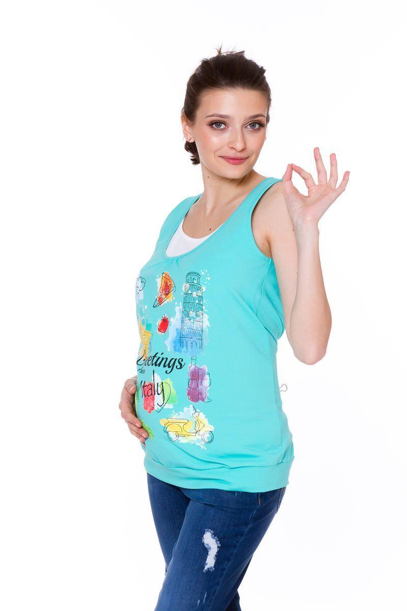 Майка для беременных и кормящих 08605 ментол