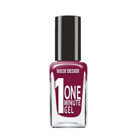 BelorDesign One Minute Gel Лак для ногтей тон 222 глубокий винный 10мл