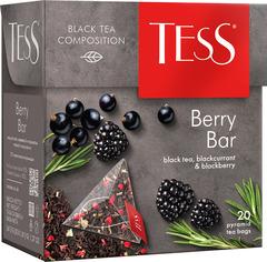 "Чай черный ""Tess"" Берри Бар 20 пирамидок"