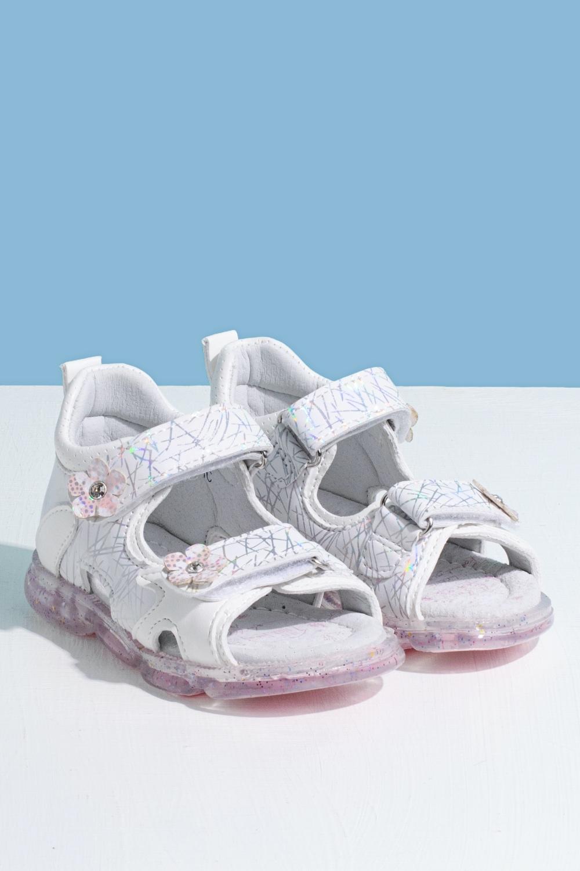 Босоножки белые для девочки 205-0040-1