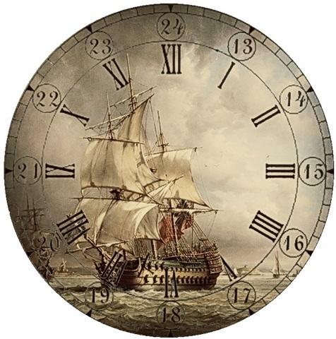 017-6811 Набор для творчества - декупаж с нуля Часы