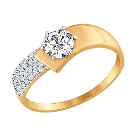 Кольцо из золота с фианитами арт. 017402 SOKOLOV