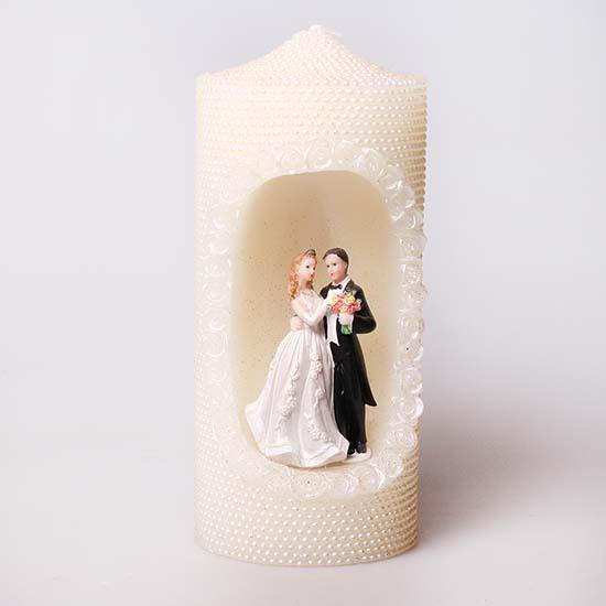 Свеча свадебная с молодоженами CWD 0133