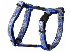 Rogz шлейка нейлон Large 34-46см/ ширина 2см синий, отражает свет