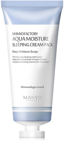 MANYO Ночная увлажняющая маска Manyo Factory Aqua Moisture Sleeping Cream Pack 100мл