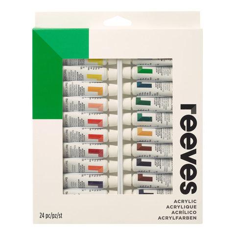 Набор акрила Reeves 10 мл*24 цв, в картонной упаковке