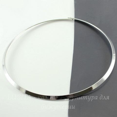 Основа для колье (цвет - платина) 43 см