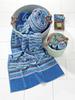 Полотенце 75x150 Feiler Square джинсово-голубое