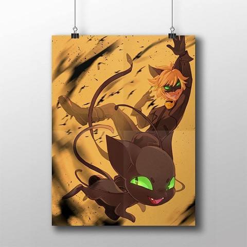Плакат с Супер Котом и Плаггом