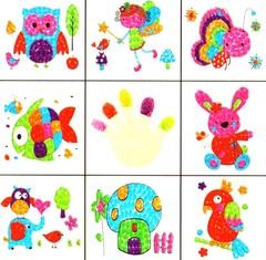 """026_2364 Набор из 8 пальчиковых аппликаций """"Joy"""""""