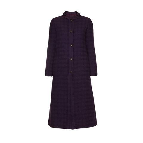 Элегантный костюм из твида темно-фиолетового цвета от Chanel, 38-40 размер.
