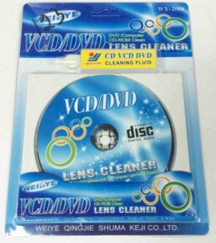 Чистящий диск CD/DVD привода WY-2008, влажный /50