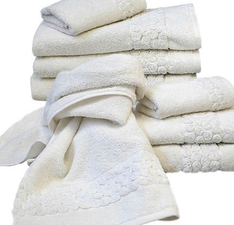 Набор полотенец 2 шт Caleffi Flora белый