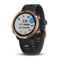 Спортивные смарт часы Garmin Forerunner 645 Music розовое золото с черным ремешком 010-01863-33