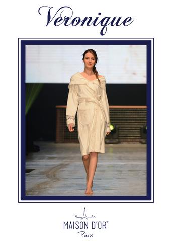 VERONIQE  ВЕРОНИК женский махровый халат с капюшоном Maison Dor Турция