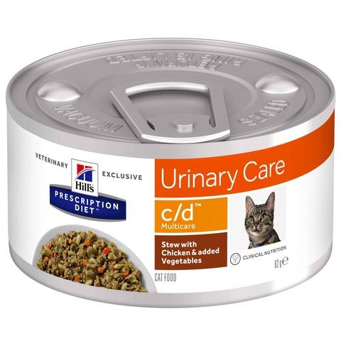 Hill's С/D консервы для кошек профилактика при заболеваниях МКБ, струвиты 156 г