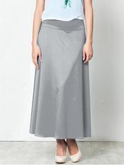 U5147-17 юбка женская, серая