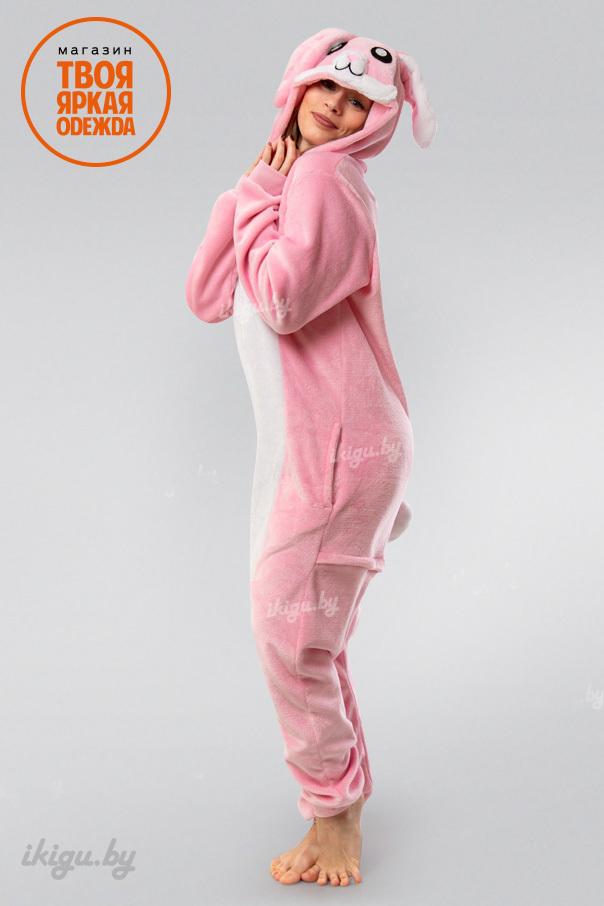 Пижамы кигуруми Заяц Нежно - Розовый заяц-розовый.jpg