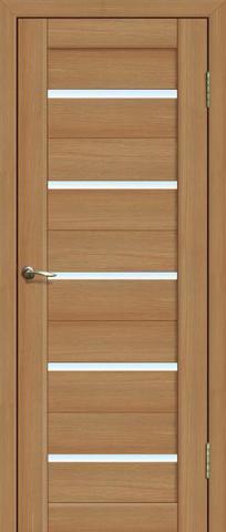 Дверь La Stella 206, стекло матовое, цвет дуб сантьяго, остекленная
