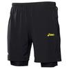 Мужские беговые шорты-боксеры Asics Fuji Short Asics Woven Short (110559 0497) черные
