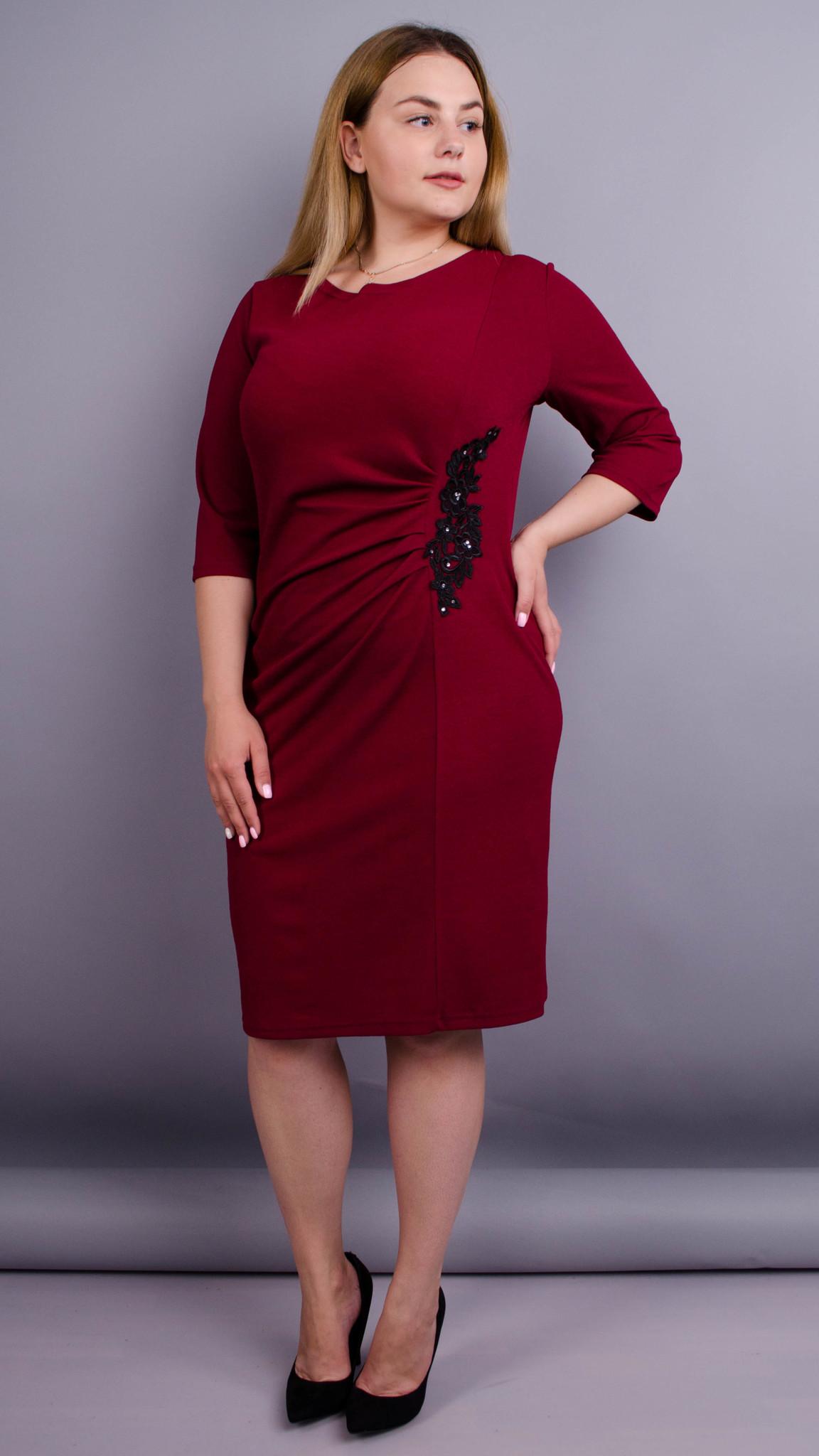 Тейлор. Красива жіноча сукня великих розмірів. Бордо. - купить по ... 530167bc2ab48