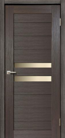 Дверь Дера Мастер 642, стекло белое, цвет венге, остекленная