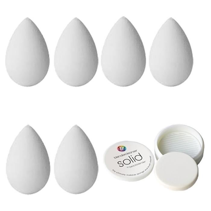 Спонж для макияжа beautyblender (6шт) и мыло для очистки