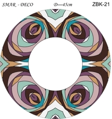 Эскиз для росписи, Зеркало диаметр-45см, SMAR-ZBK-21