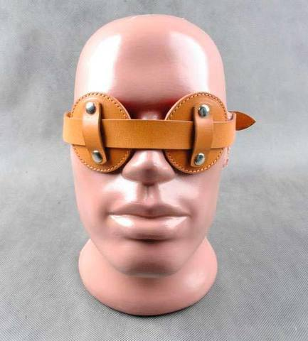 Очки-шоры «Слепец» (красно-коричневые)