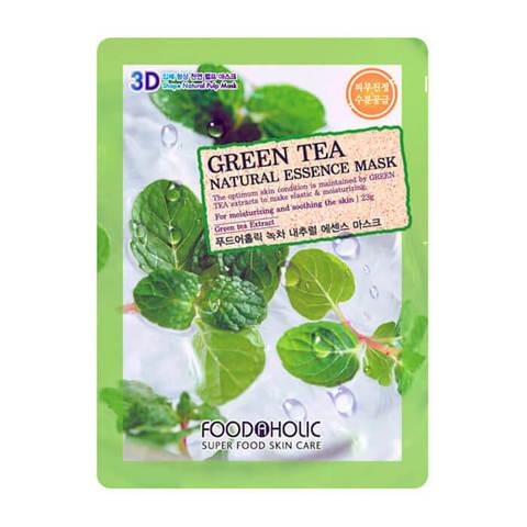 FoodaHolic Natural Essence 3D Mask Тканевая маска с натуральным экстрактом зеленого чая 23г