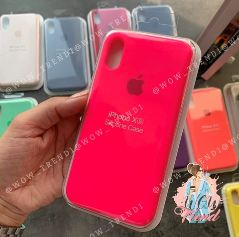 Чехол iPhone 6+/6S+ Silicone Case Full /electric pink/ ярко-розовый