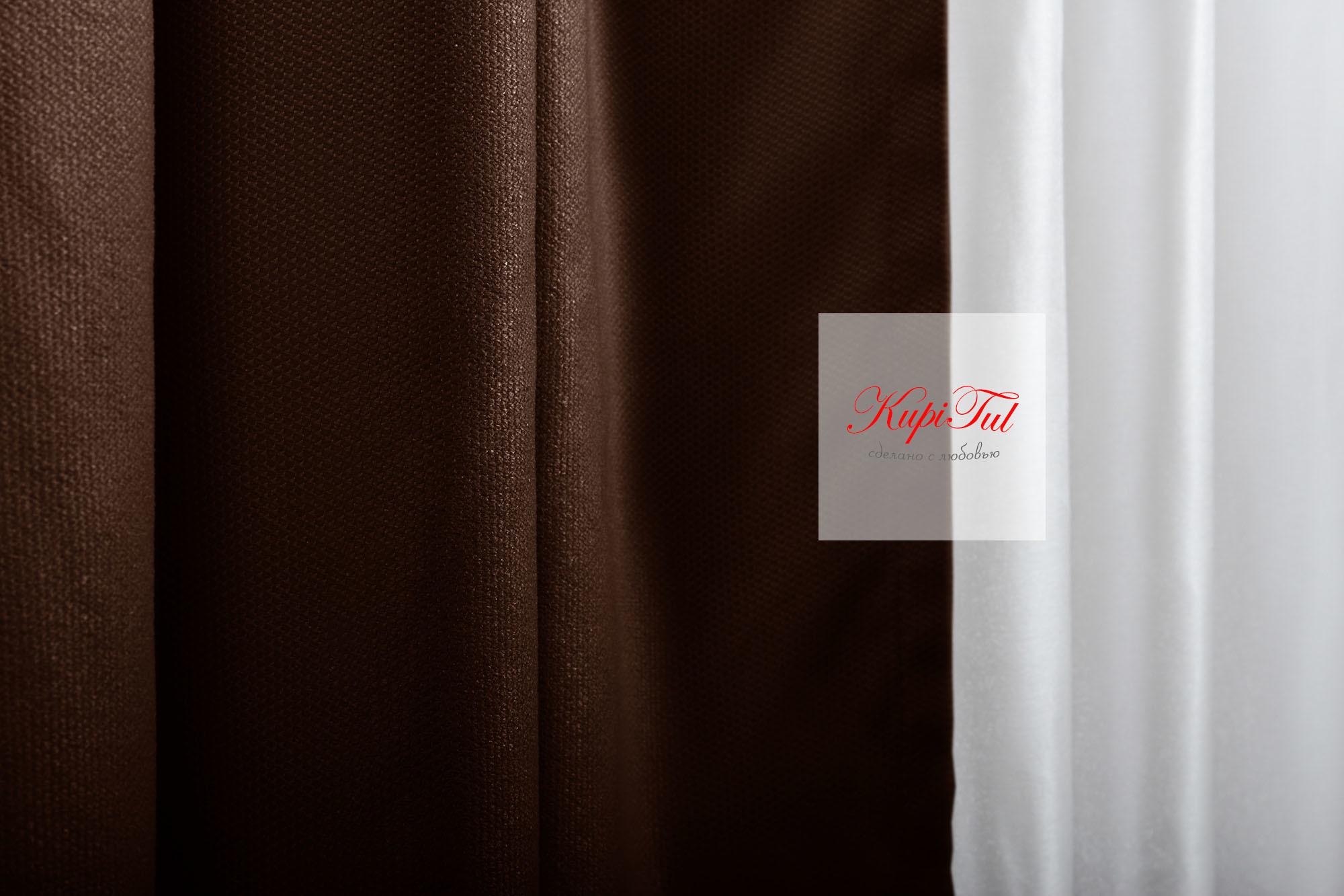 Готовая штора Ницца (венге)