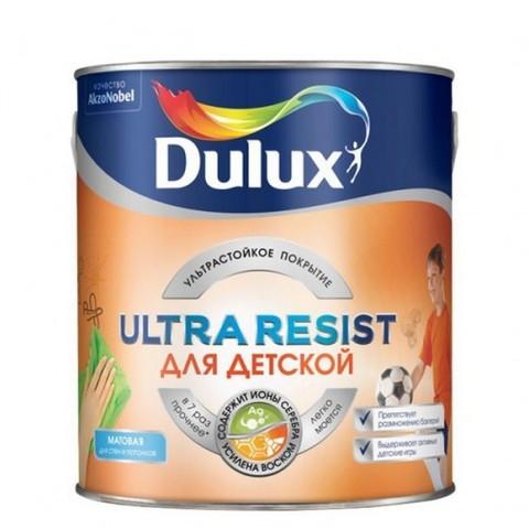Dulux Ultra Resist/Дулюкс Ультра Резист Для Детской матовая износостойкая краска для детских комнат