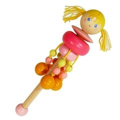 Погремушка Вальда Девочка-вертушка, розовая