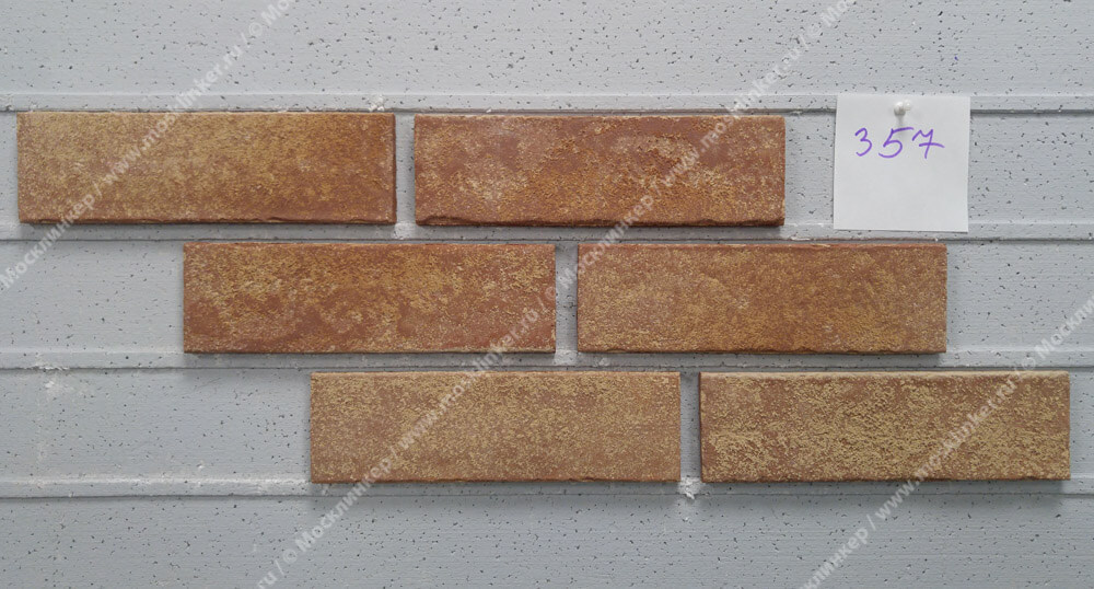 Stroeher - 357 backstein, Zeitlos, состаренная поверхность, ручная формовка, 400x71x14 - Клинкерная плитка для фасада и внутренней отделки