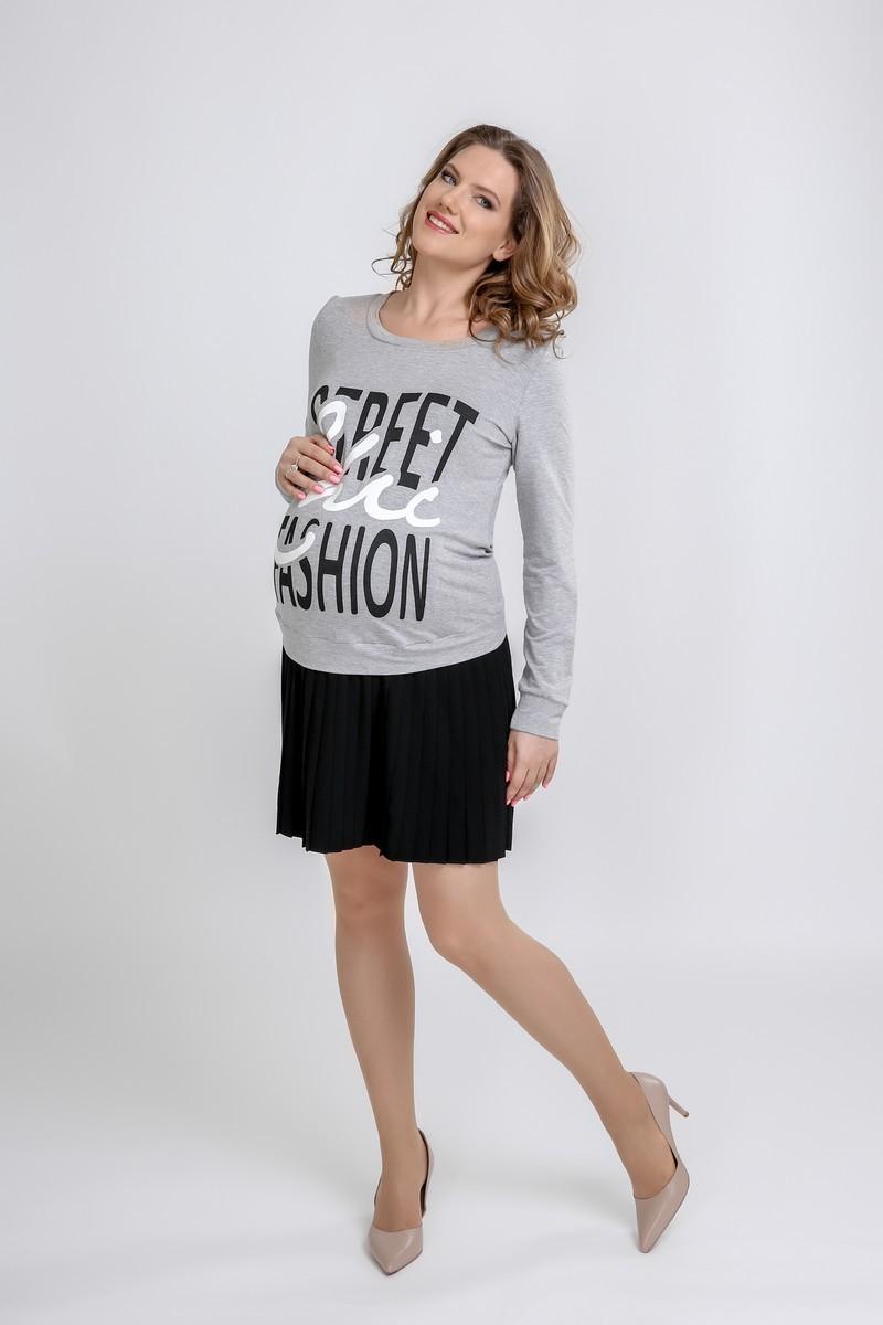 Платье 09409 серый