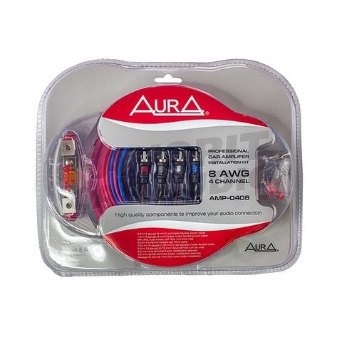 Комплект подкл. AURA AMP-0408 4*8GA